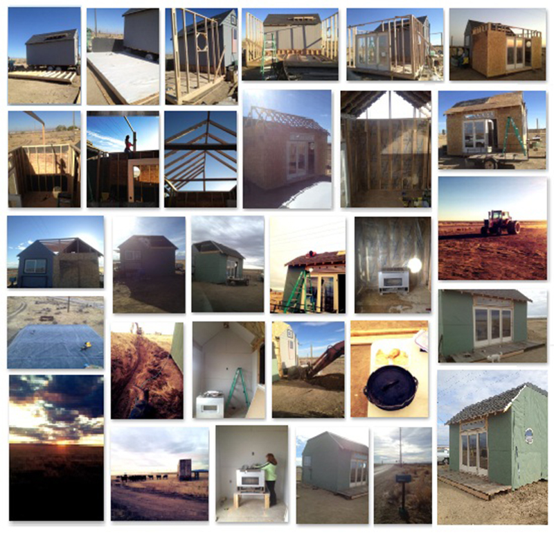 Collage of the construction process