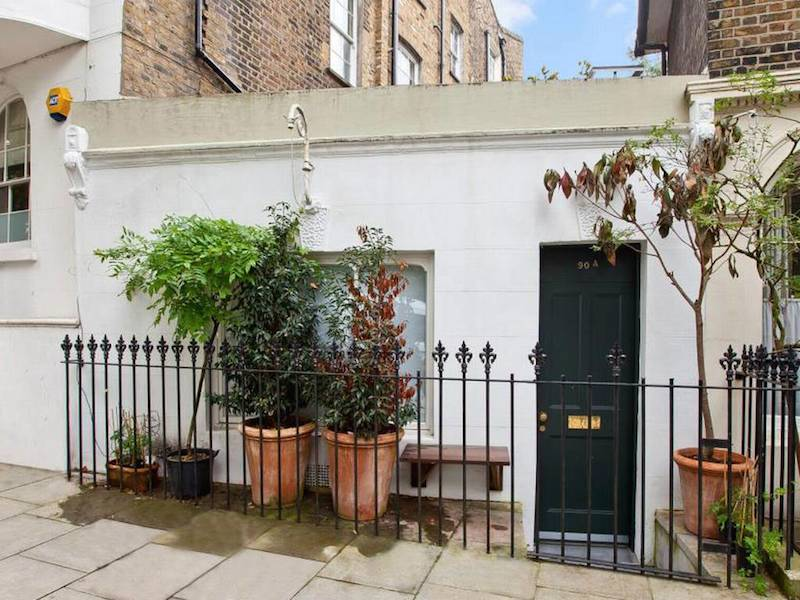 Front of the tiny home in north London