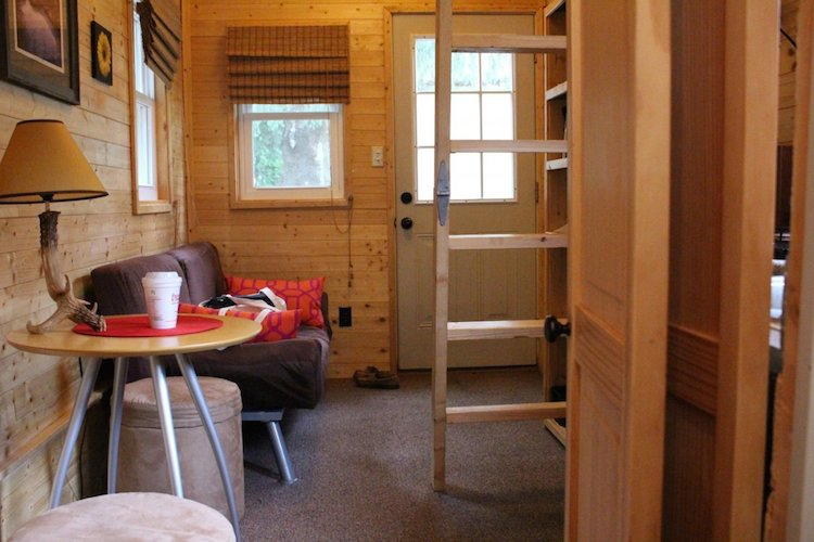 Interior of the tiny home