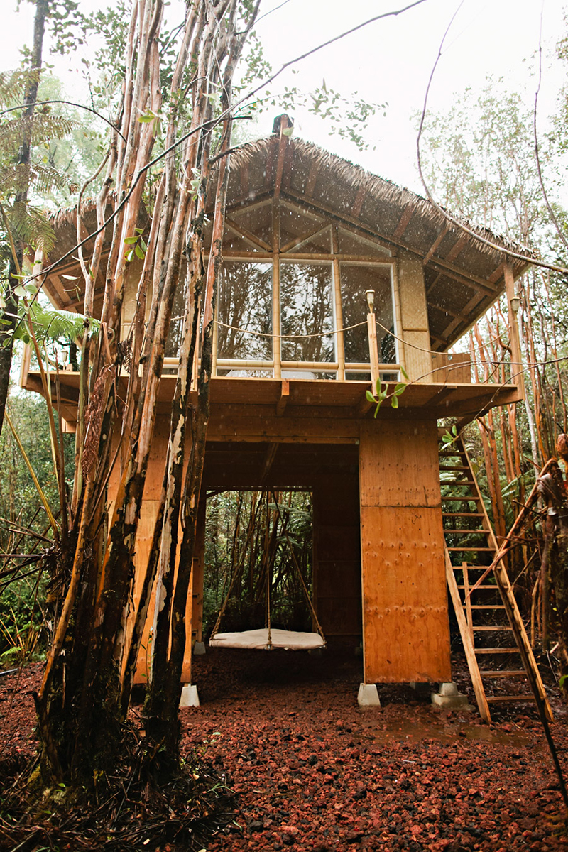 Kristin built her second tiny house in Hawaii