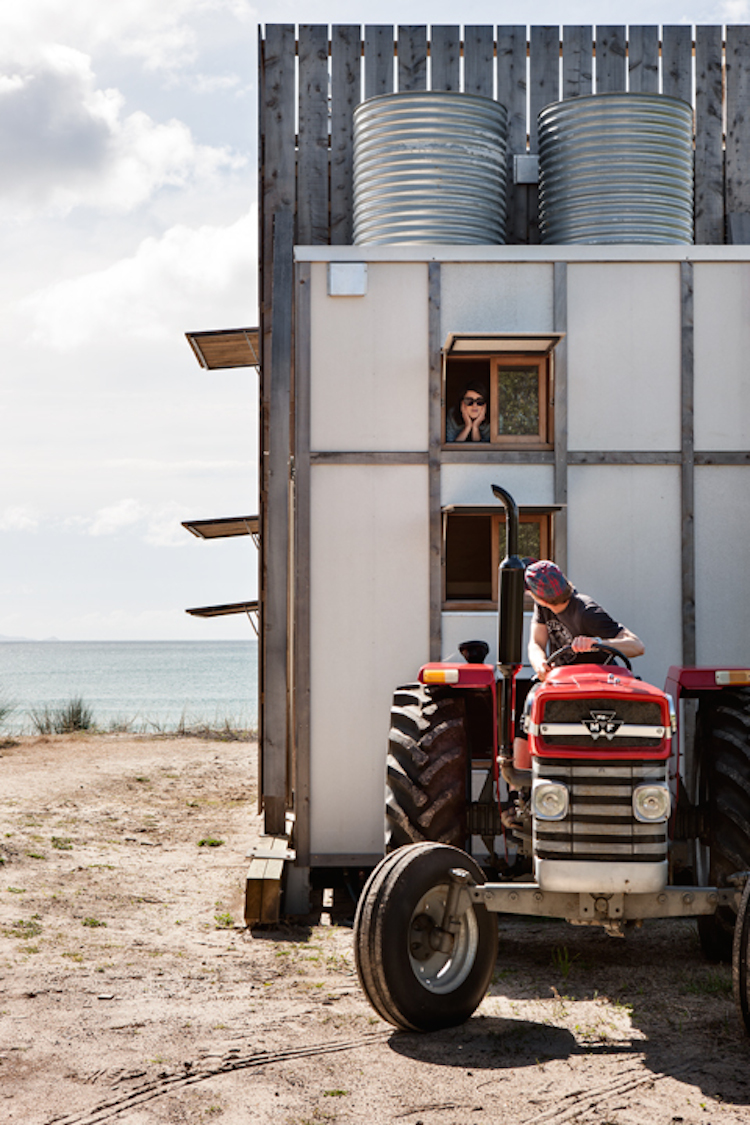 Moving the house is easy with a tractor