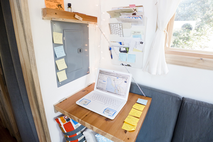 Practical fold down desk saves space