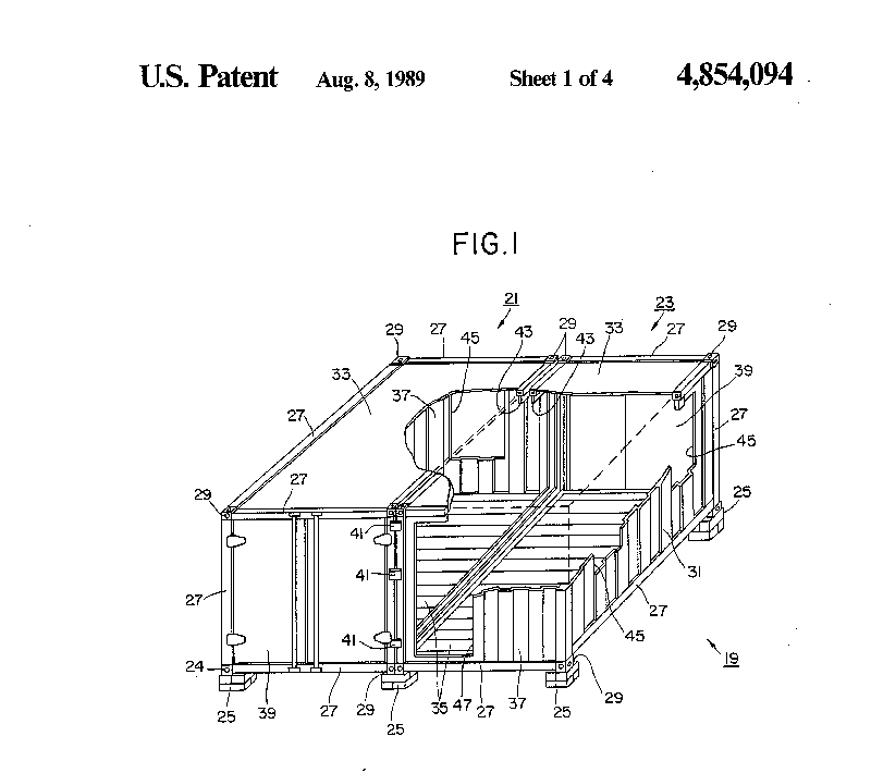 Clark's patent for a 'shipping container home'