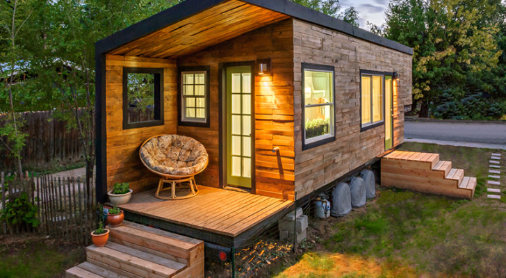 Rustic Exterior And Modern Interior In This Tiny House Plus A Shower To Die For