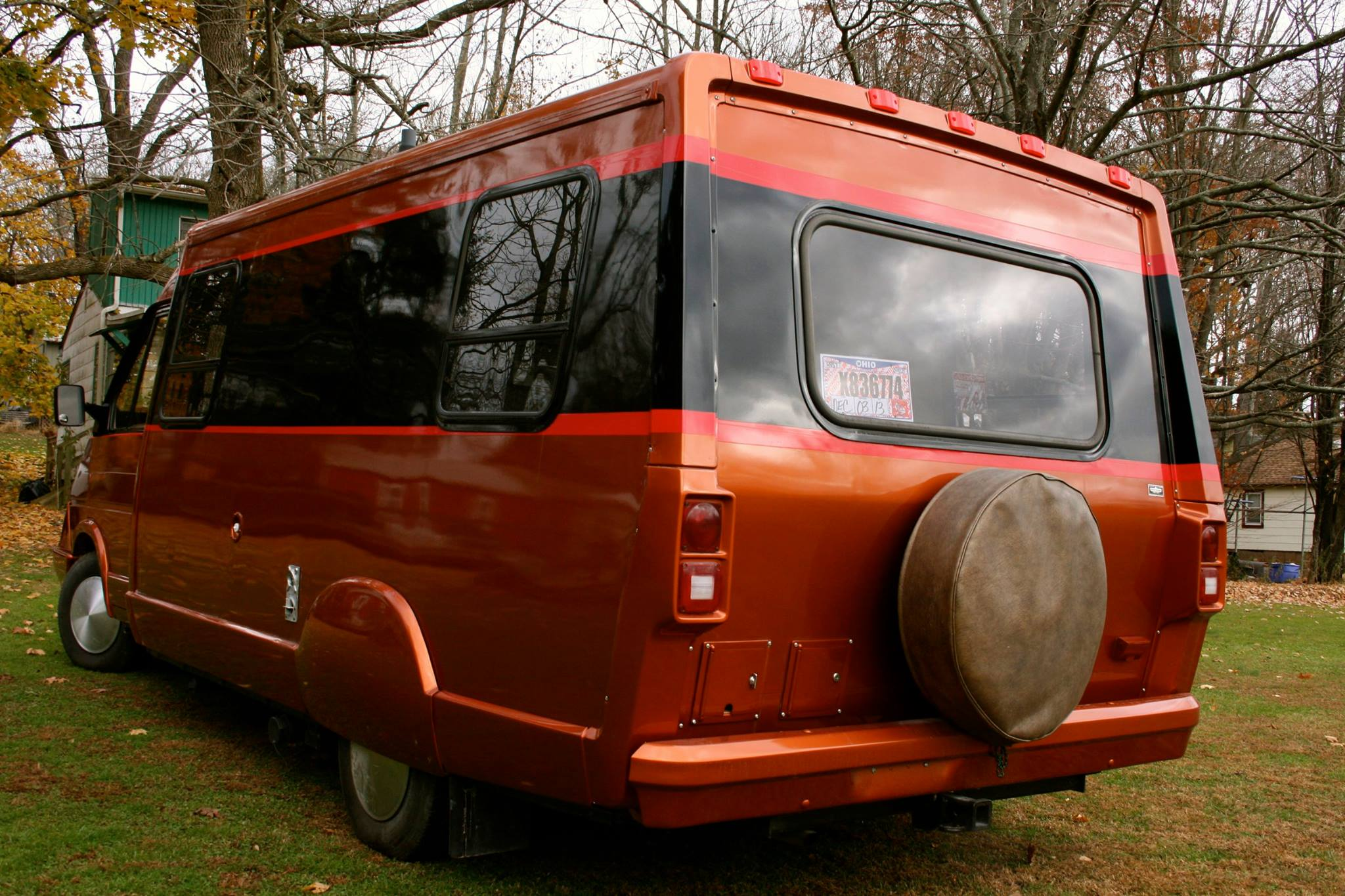 back end of a custom lesharo motorhome