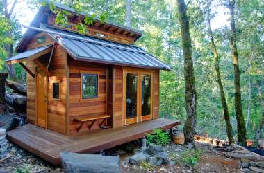 Serenity Now: Tiny House in the Forest on a Hill