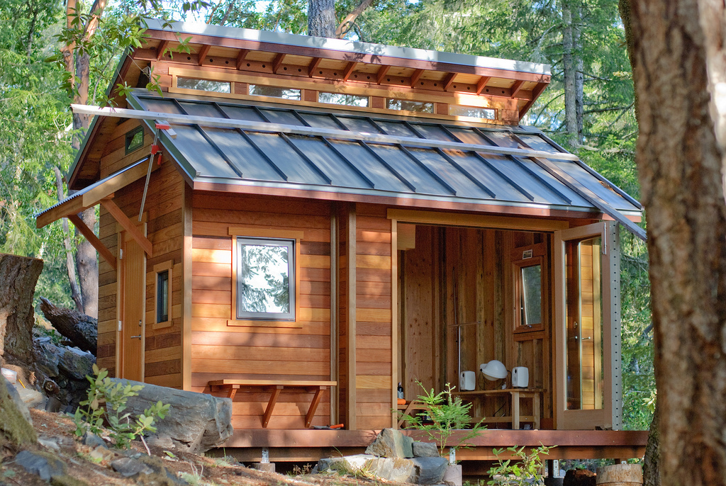 front of ben chuns friends cabin in the mountains