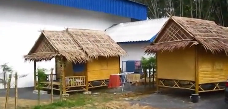These Thai Workers Built A Home Out Of Bamboo In 6 Hours