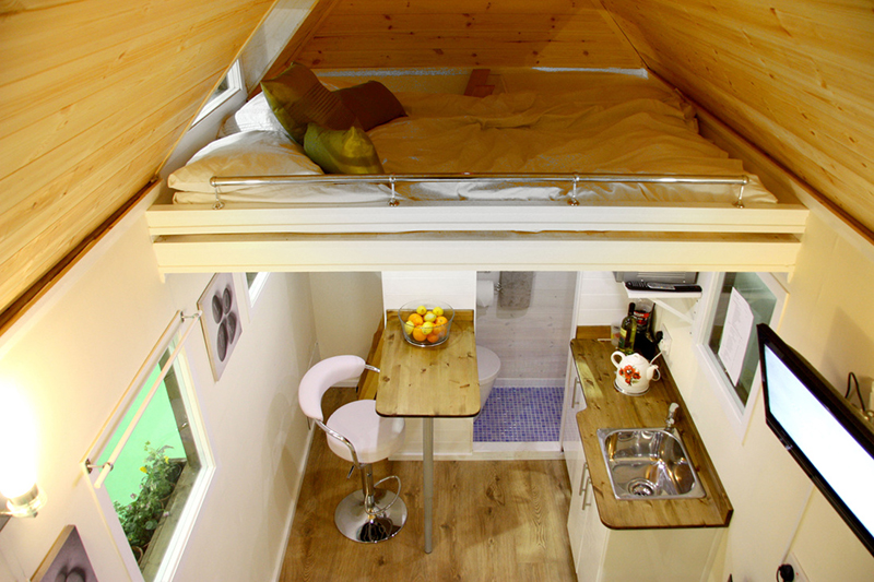 loft in tiny house