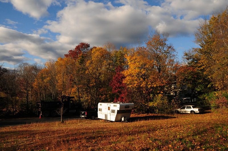 Comet Camper in a beautiful fall landscape