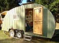 Pat Hennebery's Mega-Size Tear Drop Trailer Is a Handmade Beauty.