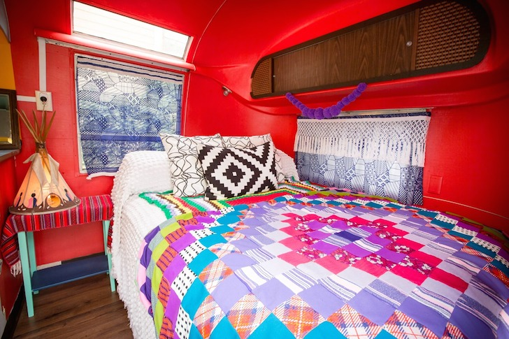 Rusty Lazer's Airstream bedroom