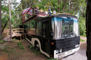 This Swedish Couple Converted A Vintage Bus Into A Peaceful Sanctuary For You