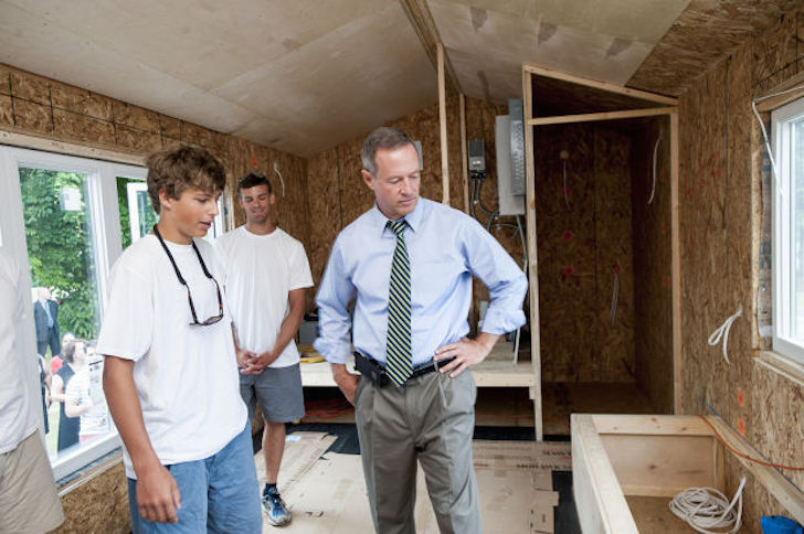 Governor Martin O'Malley visited the SustainaFest project