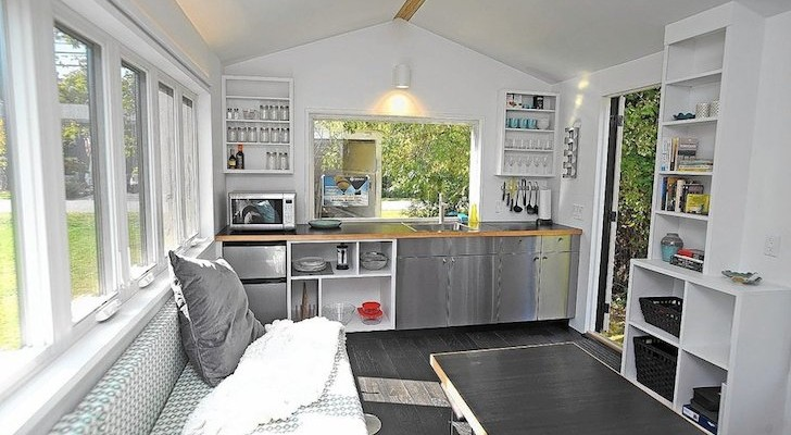This 210 Square Foot Tiny House Was Built By Kids During Summer Camp.
