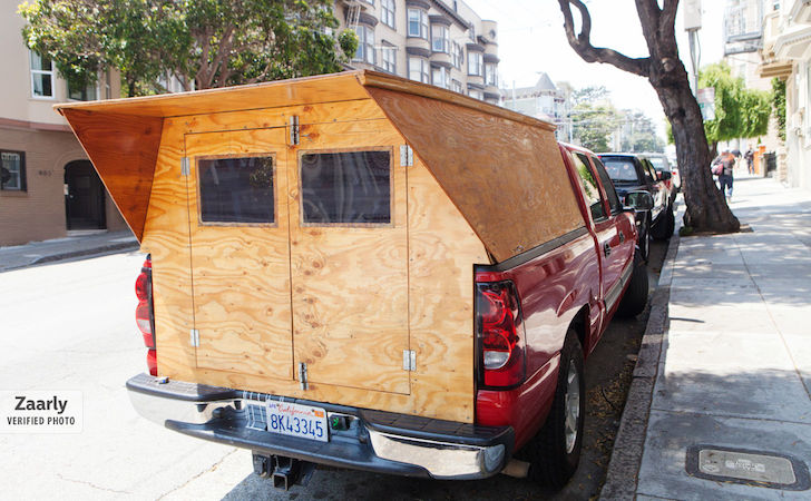 Man Makes His Own Custom Wooden Truck Camper