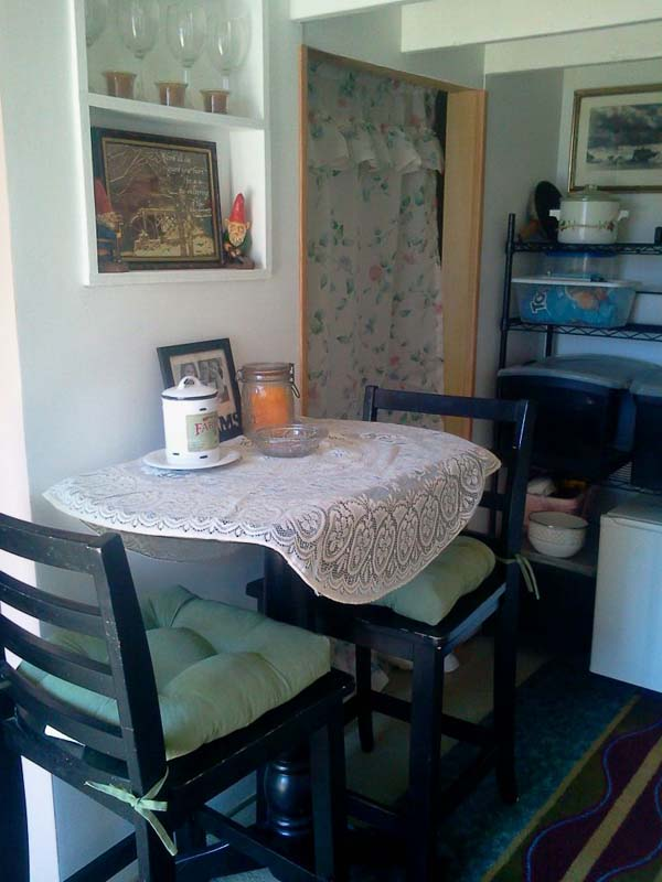 Another view of the dining table