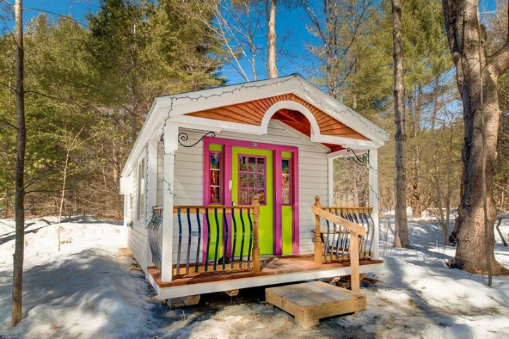 You can build this tiny house from a kit for Kits for building a house