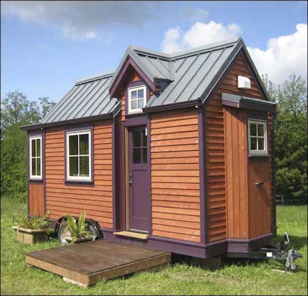 High quality 8 39 x18 39 tiny house from jade craftsman builders for Foundation tiny house builders