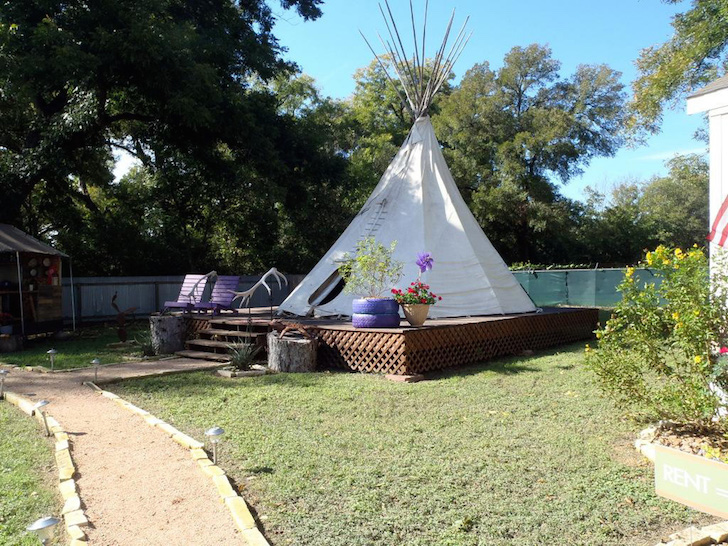 Teepee for homeless