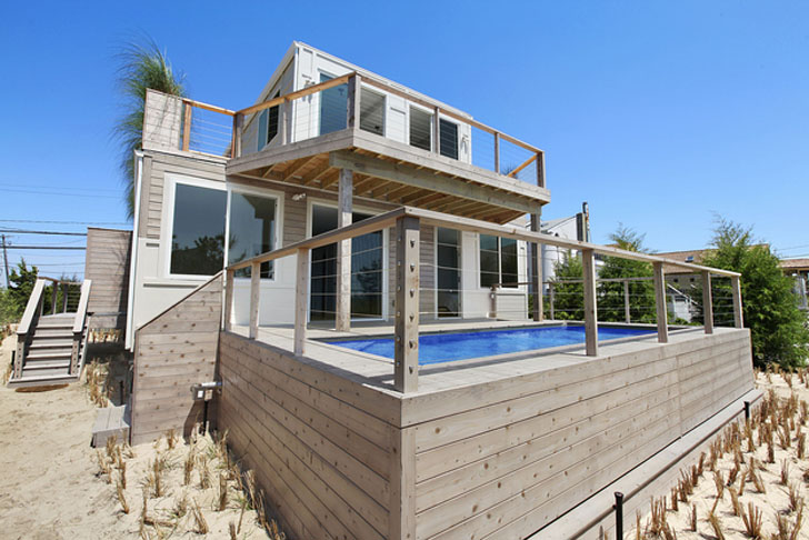 Hamtons beach house from containers