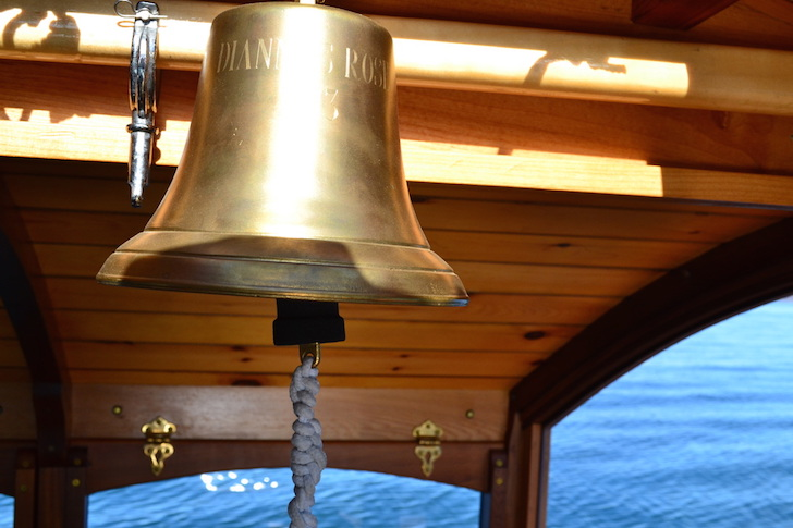 Bell on micro houseboat