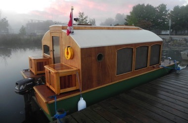 Great Now You Can Buy Plans For This Adorable (And Super Functional) Micro  Houseboat