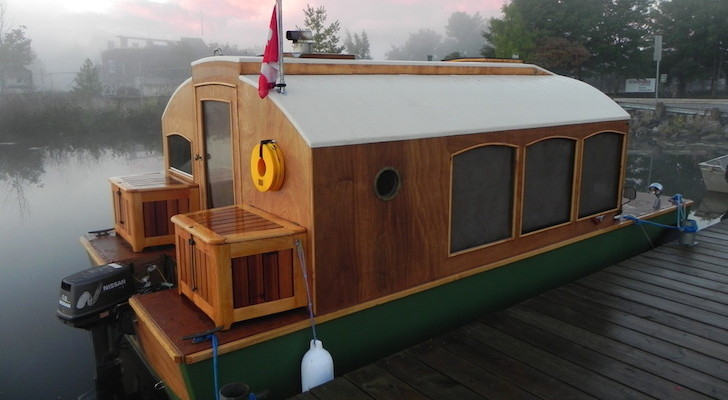 Now You Can Buy Plans For This Adorable (And Super Functional) Micro Houseboat