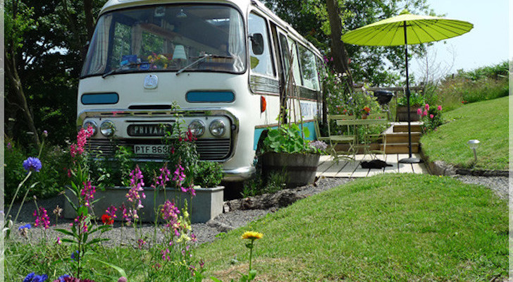 Vintage Transit Bus Now A Charming Country Retreat