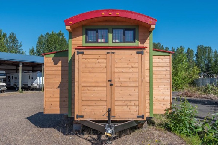 Tiny house with slideouts