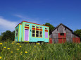Brightly Colored Tiny House On Wheels From Valley View Tiny House Company