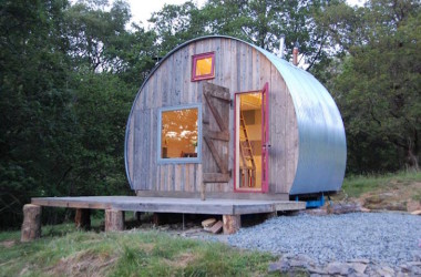 Circular Shaped Mini Cabin Now Cozy Glamping Hostel