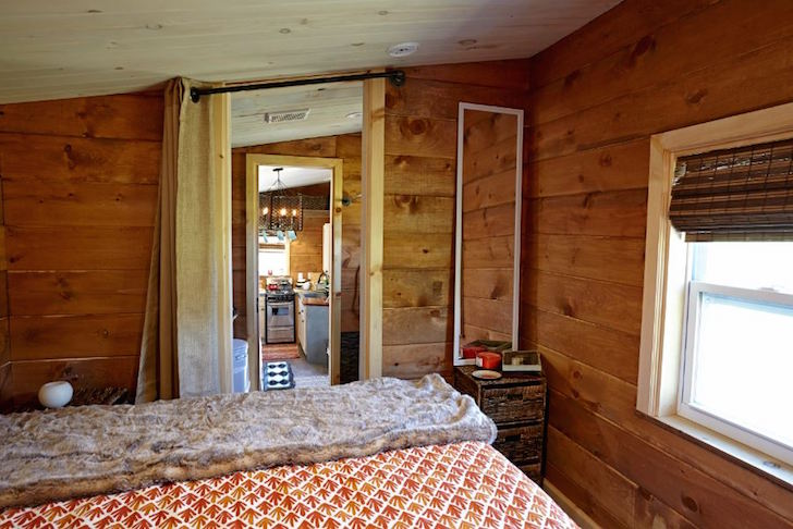 Wood Paneled Tiny House Built On A Gooseneck Trailer