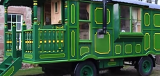 Entrancingly Green Two-Toned Shepherd's Hut With Wood Burning Stove