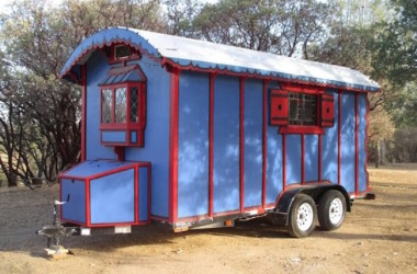 Colorful Gypsy Wagon Built For Around $7,000 On A Standard Car Carrier Trailer