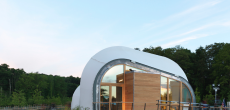 Solar Powered 825 Square Foot Techstyle Haus Is One Curvy Structure