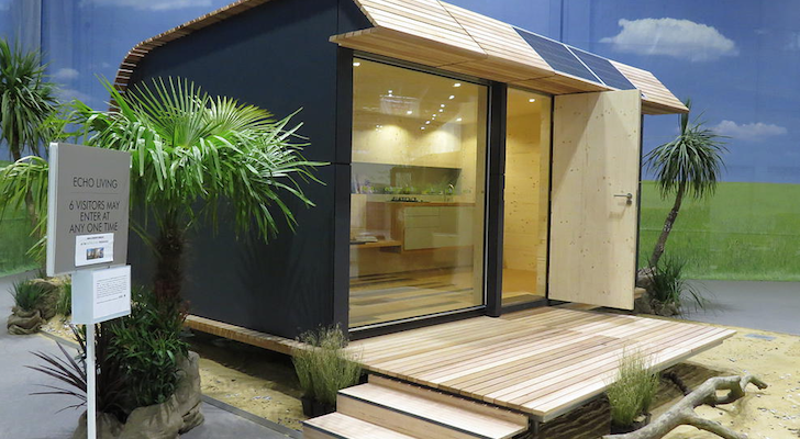 12.5 Square Meter WAVE Eco Cabin Provides Elegant Off-Grid Living Possibilities
